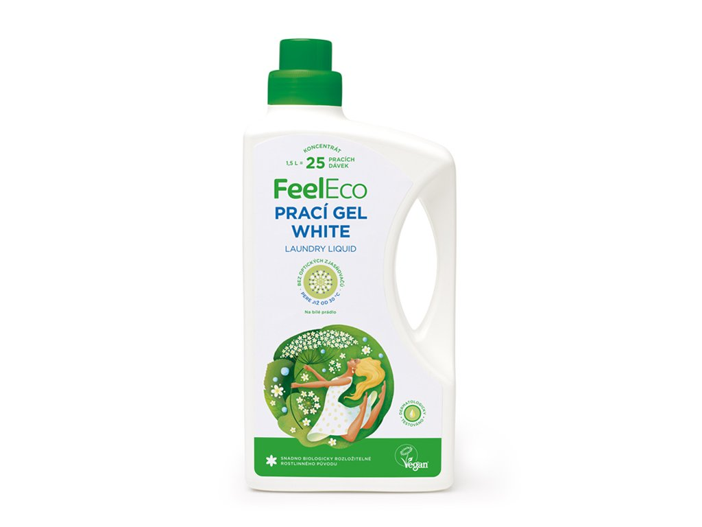 Feel eco white prací gel 1,5 l